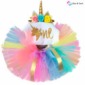 My First Birthday Unicorn Tutu Outfit