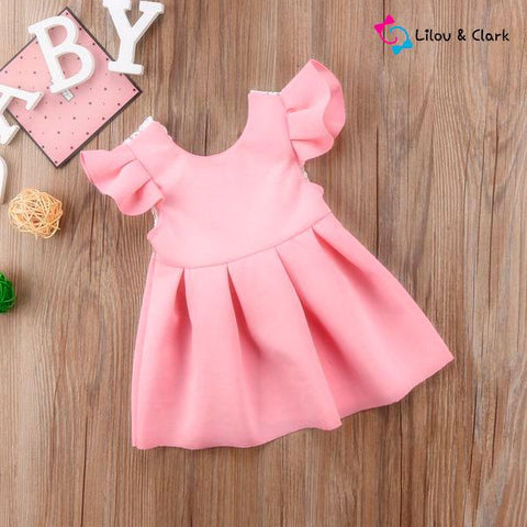 Cute Bow Baby Girl's Formal Dress