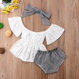 Summer Angel 3 Pieces Baby Girl's Outfit