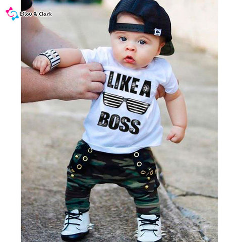 Like A Boss Baby Boy's Outfit