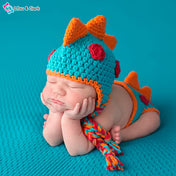 Dino Baby Boy's Photography Crochet Outfit