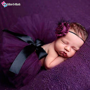 Purple Ballerina Baby Girl's Photography Outfit