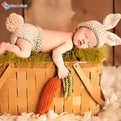 Honey Bunny Unisex Newborn Photography Crochet Outfit