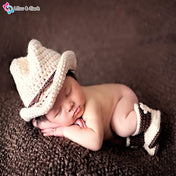 Cowboy Baby Boy's Photography Crochet Outfit