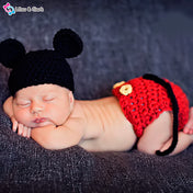 Mouse Unisex Newborn Photography Crochet Outfit