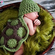 Turtle Unisex Newborn Photography Crochet Outfit