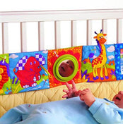 Animal Plush Crib Bumper Book