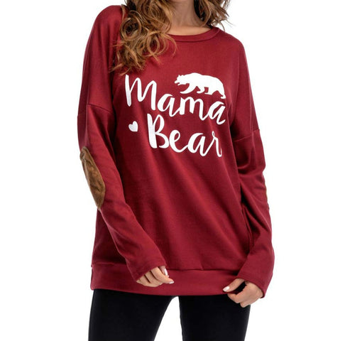 Image of MAMA BEAR Long-sleeve Sweatershirt for Women