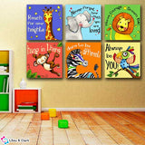 Never Forget How Much You Are Loved - Kids Room Wall Canvas Set