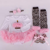 Leopard Baby Girl's Set