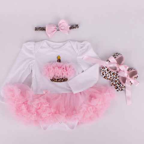 Image of Leopard Baby Girl's Set
