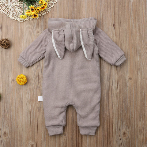 Cute Rabbit Hooded Jumpsuit for Babies