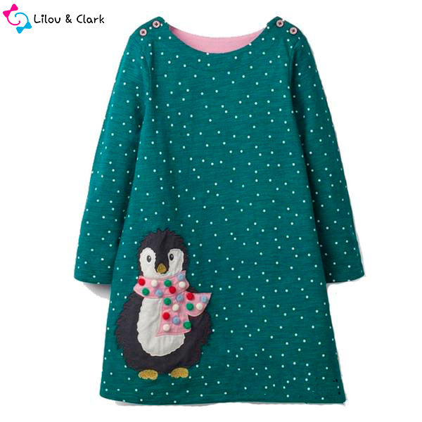 Cute Penguin Girl's Dress