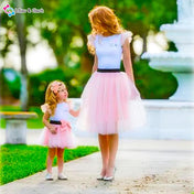 2-piece Ballerina Style Skirt and Tee Set for Mommy and Me