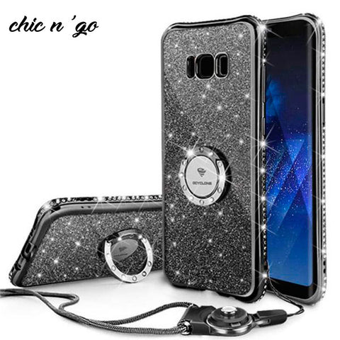 Image of Diamonds-R-4ever™ - The Ultimate Ring Case for Samsung Galaxy S8 / S8 Plus