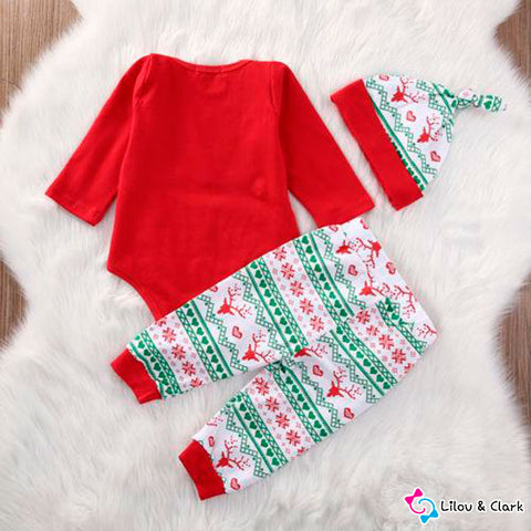 3 Pcs Christmas Baby Set