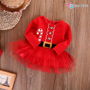 Beautiful Tulle Tutu Xmas Dress For Baby Girls