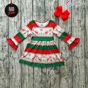 Beautiful Reindeer Pattern Christmas Dress For Her