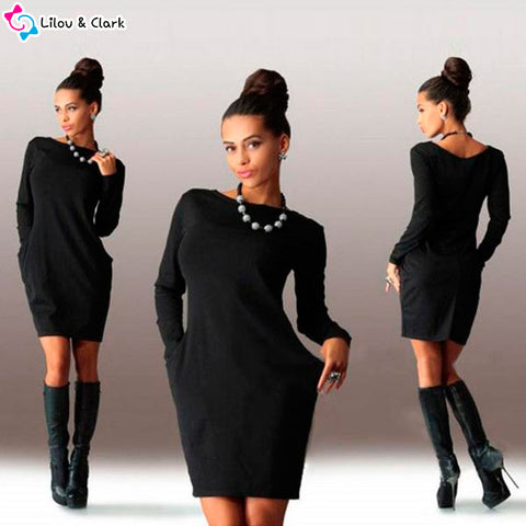 Image of Casual Women's Autumn Dress