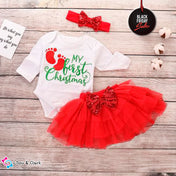 My First Christmas Baby Girl's Outfit