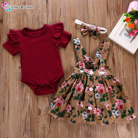 100% Cotton 3Pcs Floral Set