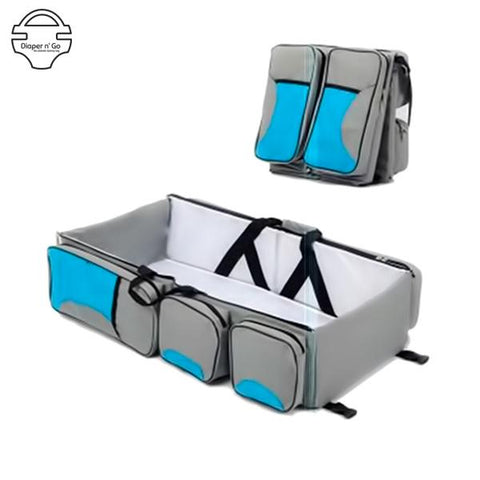 Diaper-n-go™ Changing Station - The Ultimate 3 in 1 Combo Crib Diaper Bag