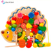 Montessori Wooden Hedgehog Fruit Beads - 82pcs