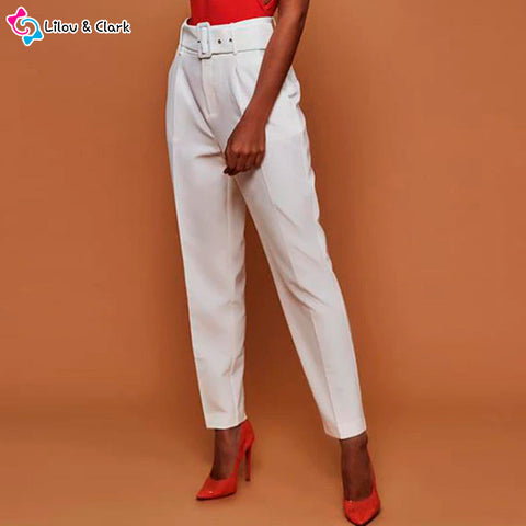Image of Casual High Waist Pants For Women