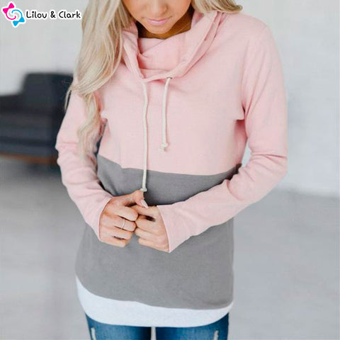 Image of Casual Drawstring Cotton Hoodie