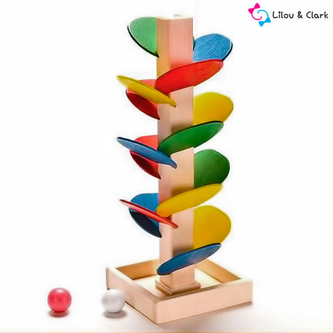 Image of Building Blocks Tree Marble Ball Run Track Game