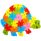 Wooden Animal Alphabet Early Learning Puzzle - 10 Patterns