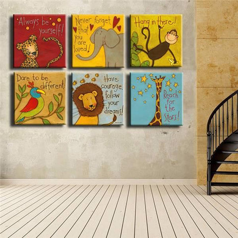 Always Remember You Are Loved - Kids Room Wall Canvas Set