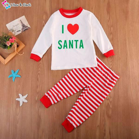 I Love Santa Family PJ's