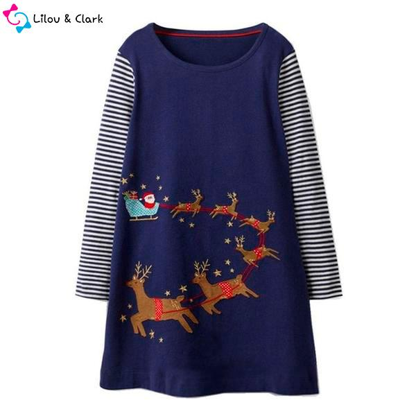 Santa Is Coming Girl's Dress