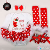 Pretty Christmas Day Baby Girl's Outfit