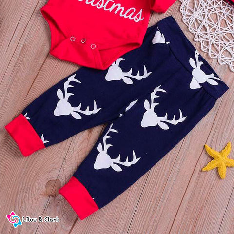 Image of 4PCS Christmas Baby Outfit