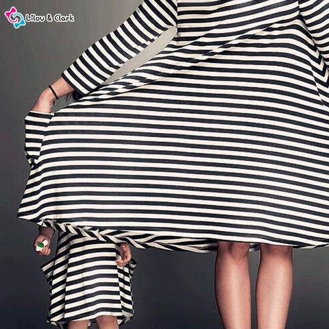 Image of Stripy Casual Dress For Mommy and Me