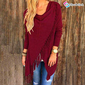 Beautiful Tassel Crossover Blouse