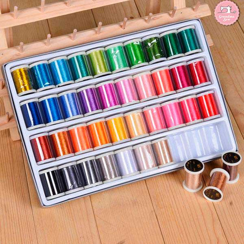 40 Colors Sewing Machine Embroidery Thread Set - 300 yard spool