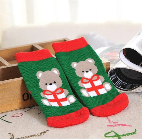 My First Christmas Baby Cotton Socks