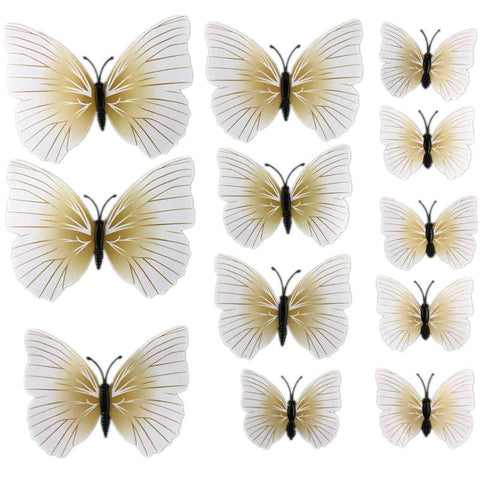 Butterfly 3D Stickers - 12pcs