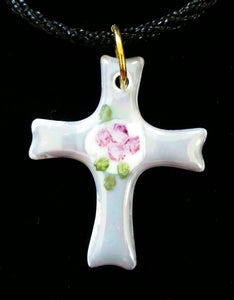 Beautiful Cross Pendants with Roses