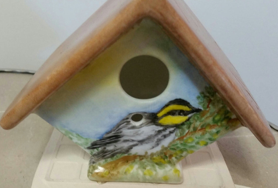 Birdhouse With A Golden Cheeked Warbler