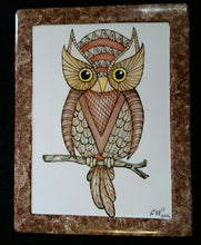 Load image into Gallery viewer, Owl Plaque In The Art Deco Style