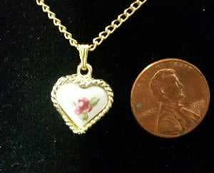 Miniature Heart Pendant Necklace