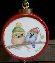 Load image into Gallery viewer, Hand Painted Porcelain Christmas Ornaments
