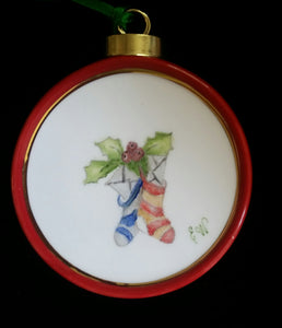 Hand Painted Porcelain Christmas Ornaments