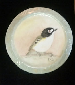 Beautiful Songbirds Hand Painted On a Porcelain Trivets