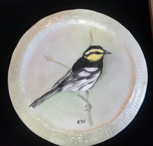 Load image into Gallery viewer, Beautiful Songbirds Hand Painted On a Porcelain Trivets