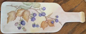 Hand Painted Porcelain Bottle Shaped  Cheese Board